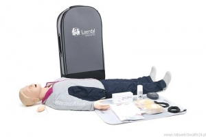Resusci Anne QCPR AED AW Head Torso Rechargeable (miękka torba - mata)